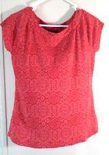 Lauren Ralph Lauren Top Sz XL Coral/Red Short Sleeve