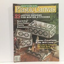 Quick and Easy Plastic Canvas Magazine, Dec/Jan 1992, Book No. 15 Free Ship
