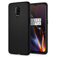 OnePlus 6T I Spigen® [Liquid Air] Black Ultra Slim Protective TPU Cover Case