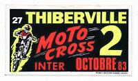 Vintage 1983 THIBERVILLE MOTOCROSS STICKER 1980s Championship Race France Decal