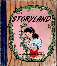STORYLAND ~ 4 Stories ~ Vintage 1940's Pied Piper Children's Story Book