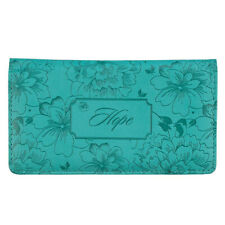 CHECKBOOK COVER Hope Teal Faux Leather Cover