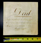 Rare ANTIQUE Early Colonial 1849 Pennsylvania Deed Indenture on Heavy Vellum
