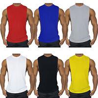 Men Tank Top Muscle T-Shirt Gym Tee Fitness Singlet Workout Vest Plain Sport Top