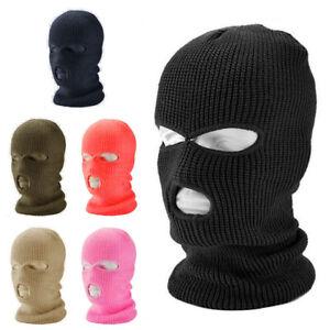3 Hole Beanie Winter Warm Ski Snowboard Hat Cap Wear Balaclava Full Face Cover