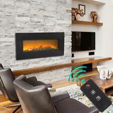 "Zokop 1400W Wall Mount 42"" Electric Fireplace Heat Heater Christmas + Remote"