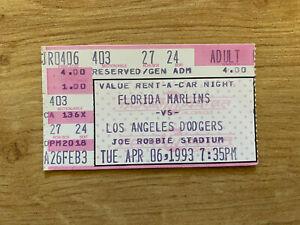 Trevor Hoffman MLB Debut Ticket Stub 4/6/93 1993