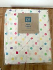 Pottery Barn Teen Xl Twin / Daybed Bedskirt Multi Dottie Colorful Polka Dot New