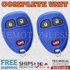 2 for 2007 2008 2009 Pontiac Torrent Keyless Entry Remote Car Key Fob Blue