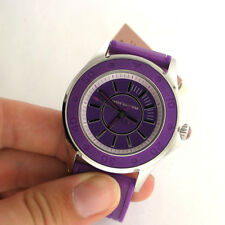 Juicy Couture 1900873 Rich Girl Purple Silicone Band Watch For Parts Not Working