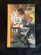 CAP Dumbbells 5 LB Set (Two 2.5 LB Weights) Black Weight Yoga 4,5 KG Tone Muscle