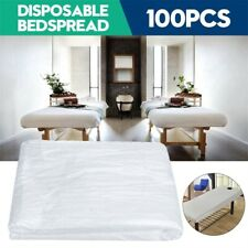 100Pcs Disposable Bed Couch Pad Cover Plastic Massage SPA Salon Table Sheet NEW