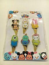 Tsum Tsum Ice Cream Cones Hong Kong Disneyland Set Lot Of 6 *New*Disney Pins