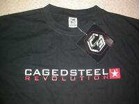 CAGED STEEL SHIRT XL MMA UFC BJJ JIU JITSU KSW MUAY THAI BOXING GYM CROSSFIT NEW