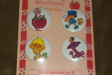 Strawberry Shortcake Retro Pin Button Set of 4 New OOP Cute 80s