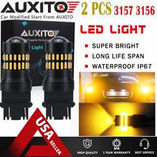 AUXITO 2X 1200LM 3157 3156 Amber Yellow 48SMD Turn Signal Lights LED Bulbs EOA