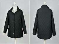Womens Barbour Burdale Quilted Jacket Snap Tartan L1962 Black Size UK 12