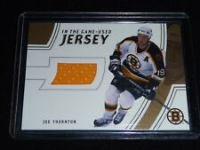 02-03 Be A Player BAP In The Game Used Joe Thornton Gold jersey /10 RARE