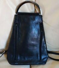 Vintage Designer Jane Shilton Genuine Leather Rucksack Backpack Bag