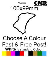 Isle Of Man TT IOMTT Sticker Race track sticker car decal