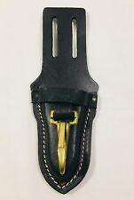 Black Leather Knife Sheath w/ Clip and Belt Loop