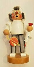 "Authentic Steinbach 10"" Wooden Chubby Smoker Doctor Figurine"