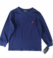 Boys Ralph Lauren Long Sleeved T-shirt Age 2 Years 3 Years 4 Years 5 6 7 Years Chase Blue Red Polo Player