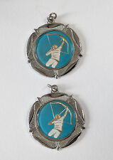 Two Vintage Archery Award Medals