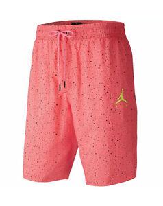 NEW Nike Air Jordan Jumpman Cement Poolside Shorts Pink Men's small CI9133-639