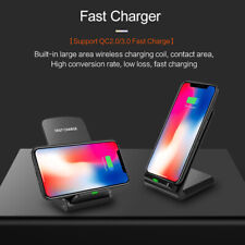 10W Qi Wireless Charger Fast Charging Dock Stand For iPhone XS Max Samsung S10+