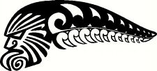 NZ KIWI WARRIOR KORU SILVER FERN NEW ZEALAND MAORI AOTEAROA CAR STICKER #1