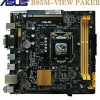 ASUS B85M-VIEW PAKER For LGA-1150 Intel 4Th i7/i5/i3 CPU 21*20 B85 Mini-ITX HTPC