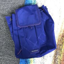 NEW Vera Bradley Preppy Poly Violet/Purple Medium Backpack