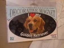 I Love My Golden Retriever~Dog Decorative Magnet~New In Package~Made In Usa