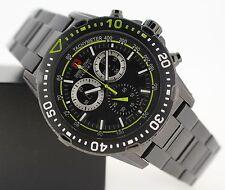 100 m (10 ATM) Armbanduhren aus Edelstahl mit 12-Stunden-Zifferblatt und Matte