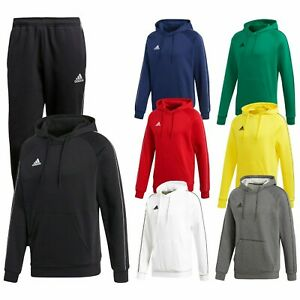 Adidas Mens Joggers Core 18 Hoodies Bottom Fleece Tracksuit Hoody Top Sweatpants