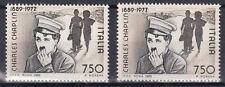 ITALIA 1989 - CHARLIE CHAPLIN L. 750 MNH** varieta' DENTELLATURA SPOSTATA VEDI