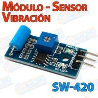 Modulo sensor vibracion SW-420 para alarma o detector - Arduino Electronica DIY