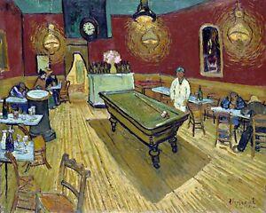 The Night Café by Dutch  Vincent van Gogh. Canvas Life Art.  11x14 Print