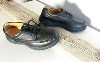 Dd. Comfort Stallion Black Orthopedic Men's Shoes Sz 8 XW #309