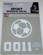 PeelStar Sport Window Decal - Soccer Ball with Number - NIP
