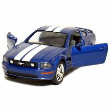 "New 5"" Kinsmart 2006 Ford Mustang GT Stripes diecast model toy car 1:38 Blue"
