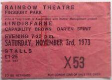 Lindisfarne Capability Brown Original Concert Ticket Rainbow Theatre London 1973