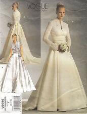 Vogue 2979 Bridal Gown Wedding Dress Princess Grace Sewing Pattern Size 6-10 FF