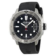 Alpina Adventure Diver Black Dial Black Rubber Strap Mens Watch AL240LB3V6