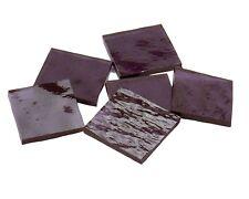 Lavender Purple Cathedral Rr Border Rectangles   Mosaic Glass Tile Shape