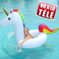 Bouée Gonflable Licorne Pour Adultes Vue TV piscine plage été eau flottant FR