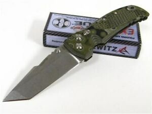 """Hogue 34148 EX-01 Green G-10 Tactical 4"""" Tanto Knife"""