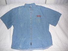 New Harlem Globetrotters Denim Short Sleeve Button Up Shirt 4Xl Xxxxl