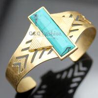 Vintage Aztec Arrow Turquoise Bar Navajo Zuni Southwest Bracelet Bangle Cuff